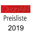 CleanAir Preisliste 2019